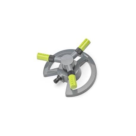 Aspersor circular de tres brazos